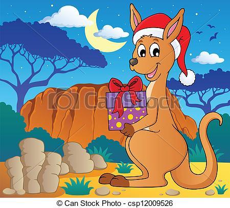Christmas kangaroo theme image 2.