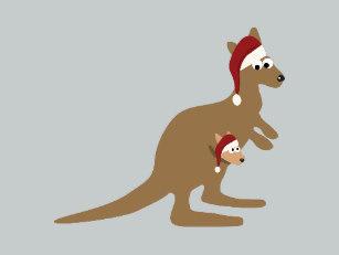 Kangaroo Christmas Cards.