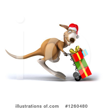 Christmas Kangaroo Clipart #1277789.