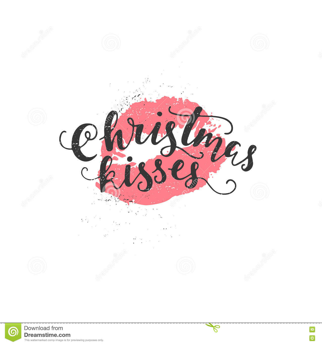 Vector Holiday Calligraphy Stock Vector.