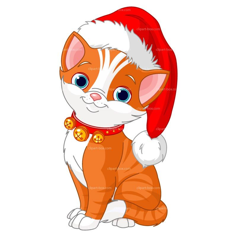 images of cute kitten christmas clipart.
