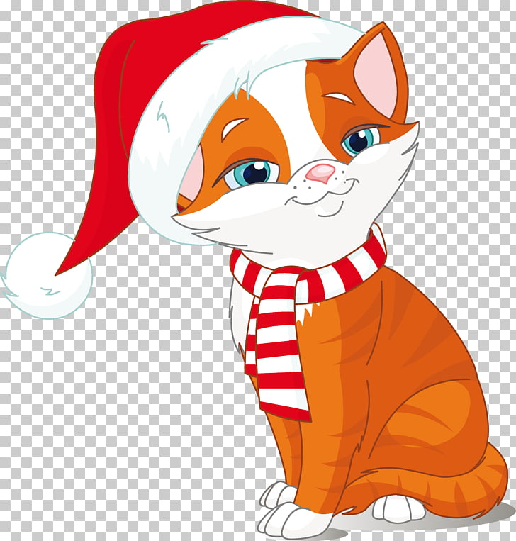 Kitten Cat Dog Christmas , kitten PNG clipart.