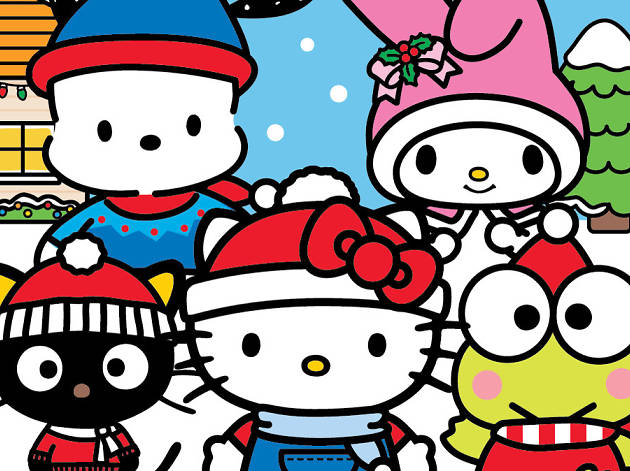 A Hello Kitty Christmas Village Is Coming To OC Soon Useful Clipart.