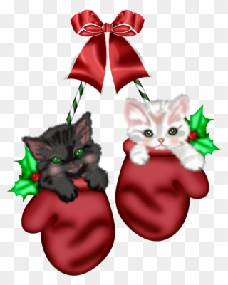 Free PNG Christmas Cats Clipart Clip Art Download.