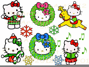 Christmas Clipart Hello Kitty.