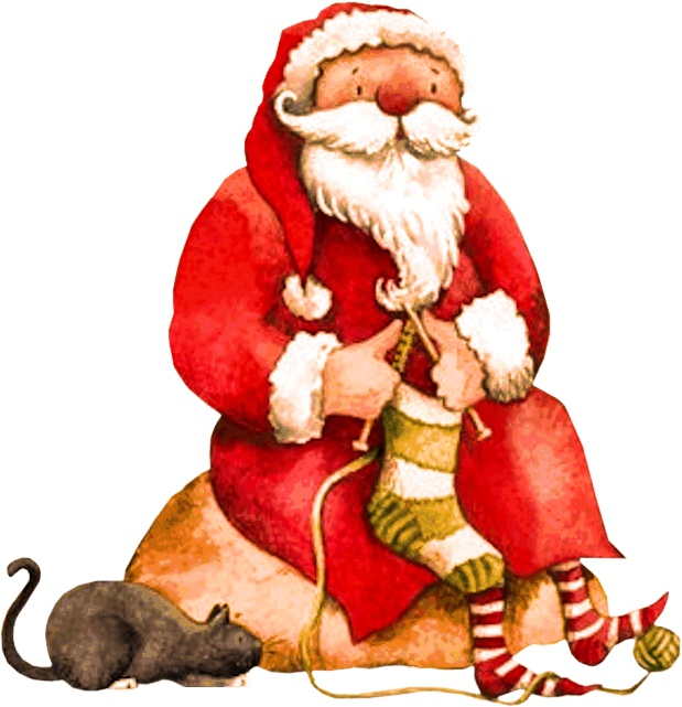 Santa Knitting.
