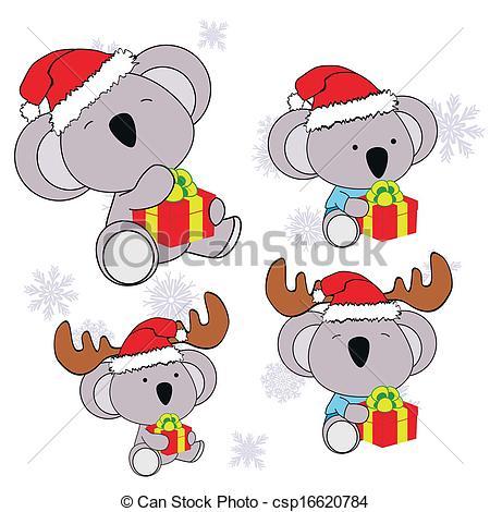 koala xmas baby claus gift set.