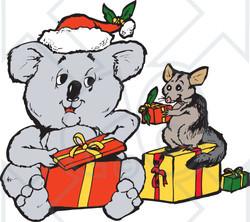 Christmas Koala Clipart.