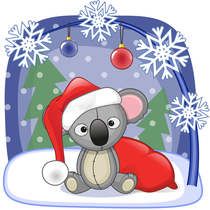 Santa Koala Stock Illustrations.