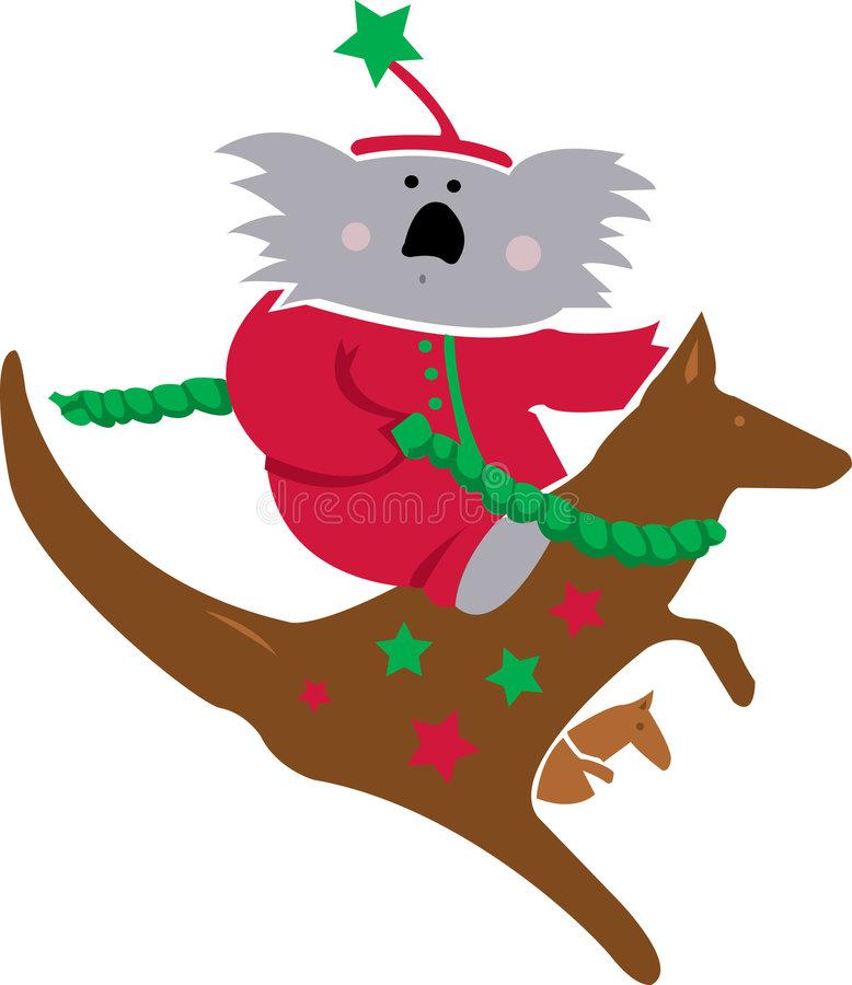 Koala Christmas Stock Illustrations.