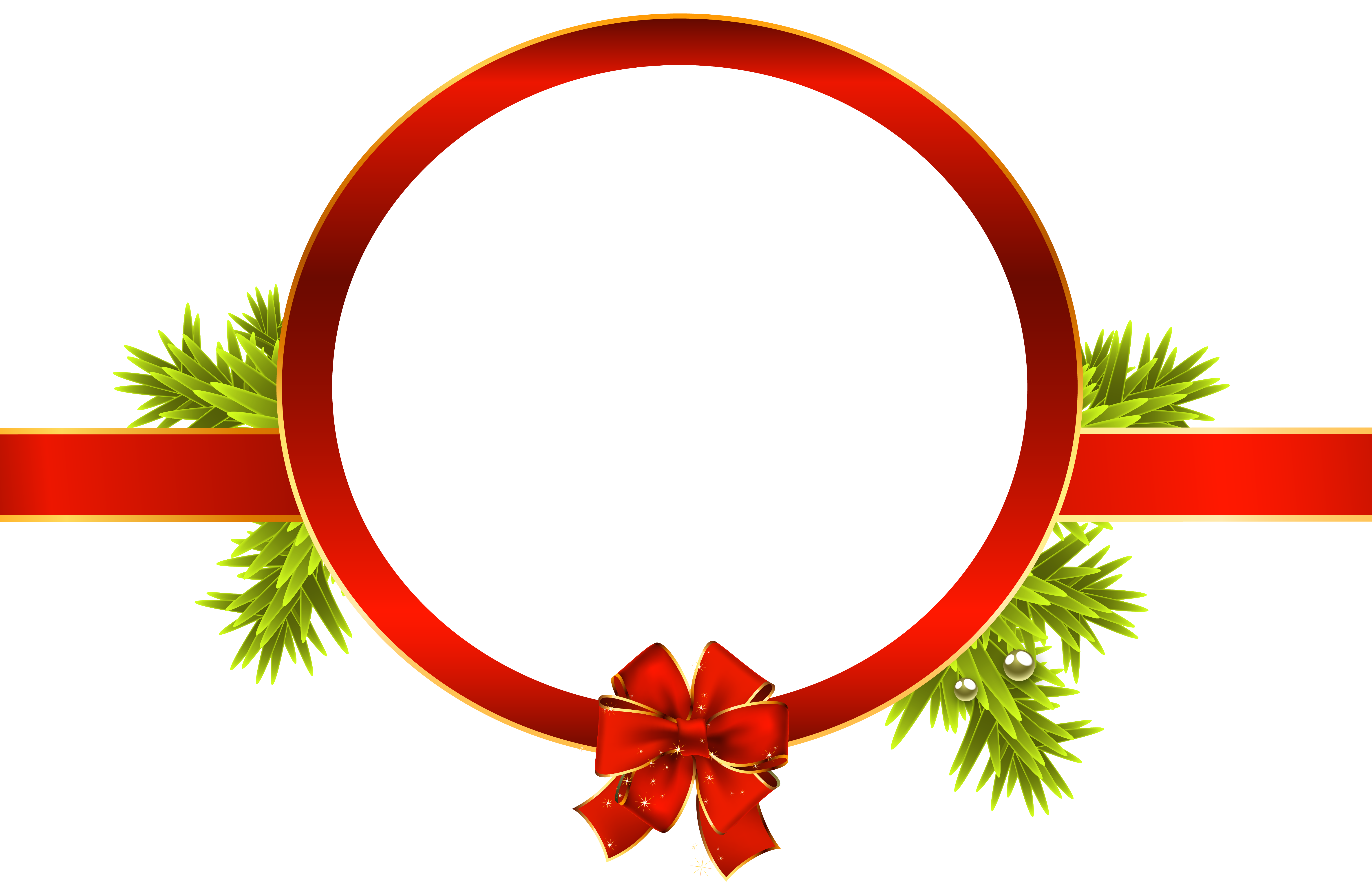 Christmas Label PNG Clipart Image.