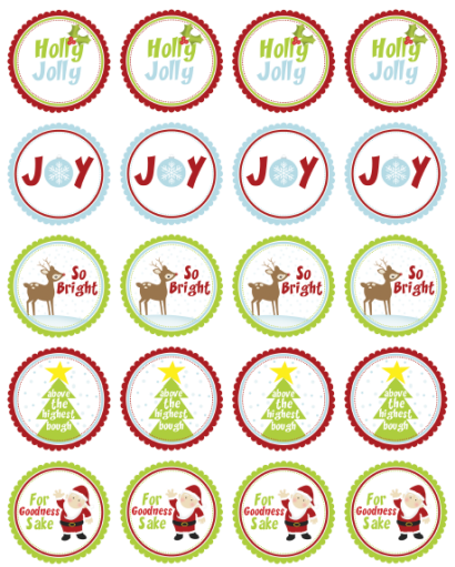 Christmas address label clip art free.