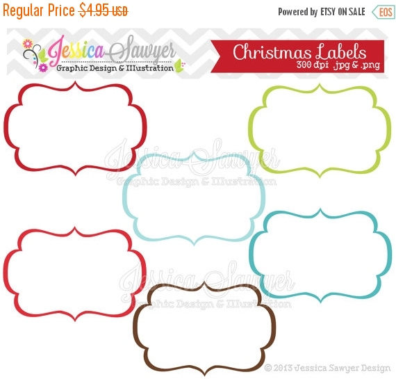 80% OFF INSTANT DOWNLOAD christmas labels tag clipart.