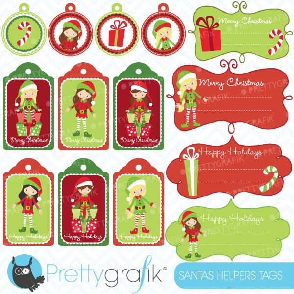 Christmas Clip Art For Labels.