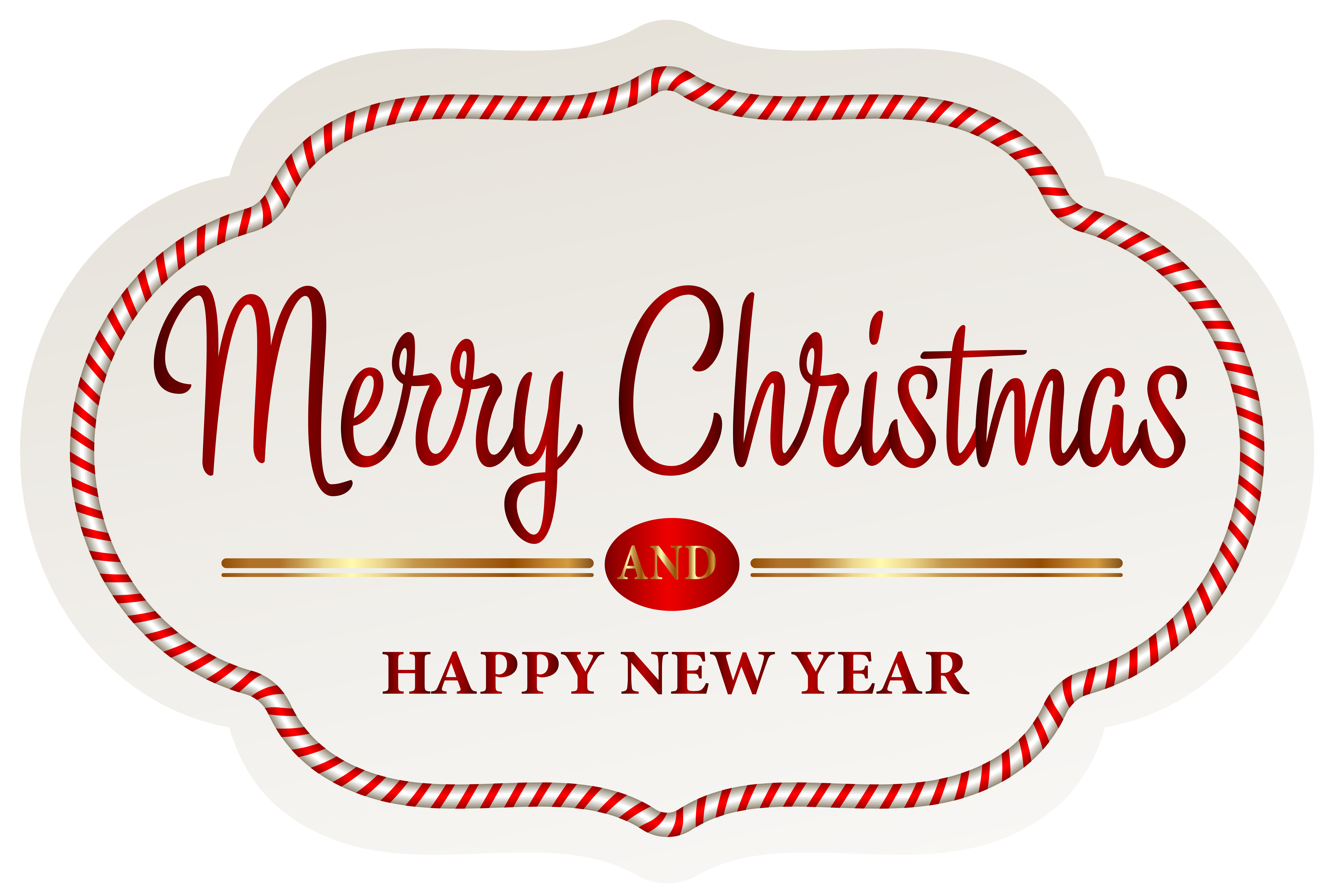 Merry Christmas Label PNG Clipart Image.