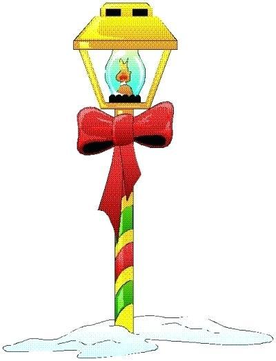 christmas lamp post.