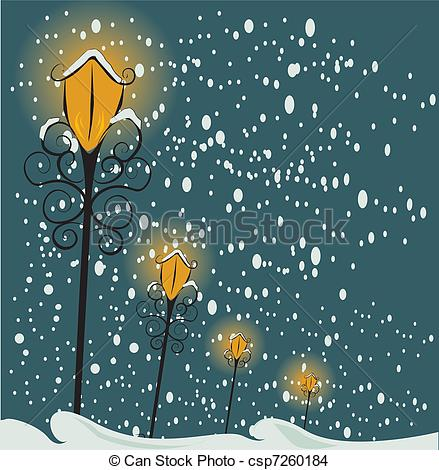Christmas lamppost background.