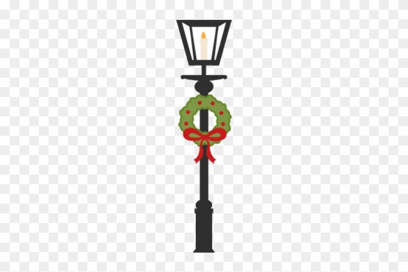 Lamp Post Clipart Christmas.