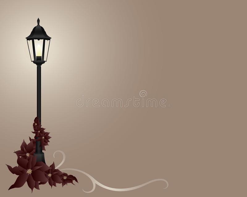 Christmas Lamp Post Stock Illustrations.