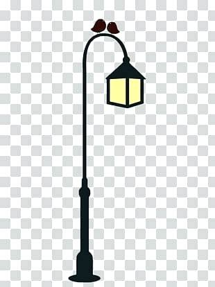 Christmas Lamp Post Clipart Paris Black And White Light Pole For.