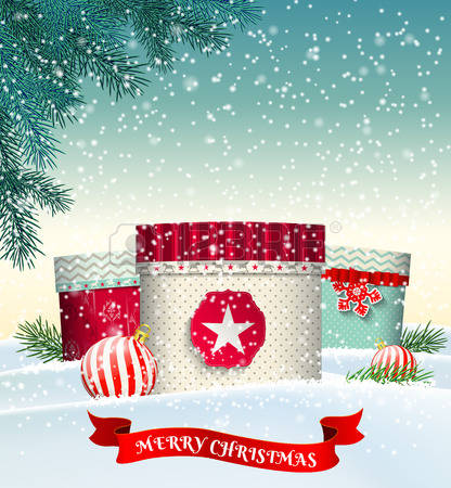 32,446 Christmas Landscape Stock Vector Illustration And Royalty.