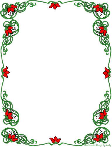 Christmas letter border clipart.