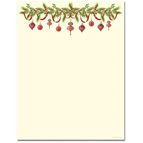 Free Printable Christmas Borders.