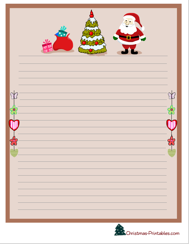 christmas stationery free.