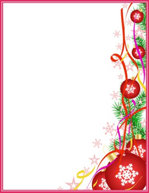 Christmas Letterhead Cliparts.