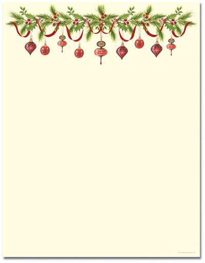 Grandma\'s Ornaments Letterhead.