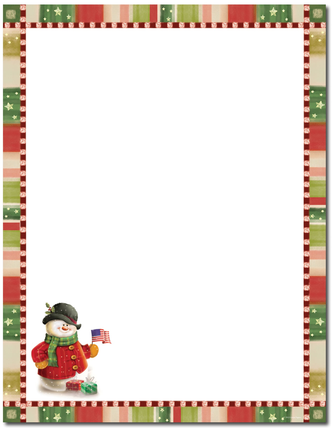 christmas stationery download.
