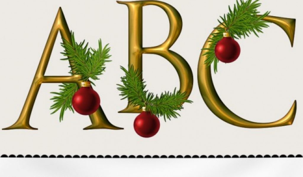 Christmas Cliparts Letters.