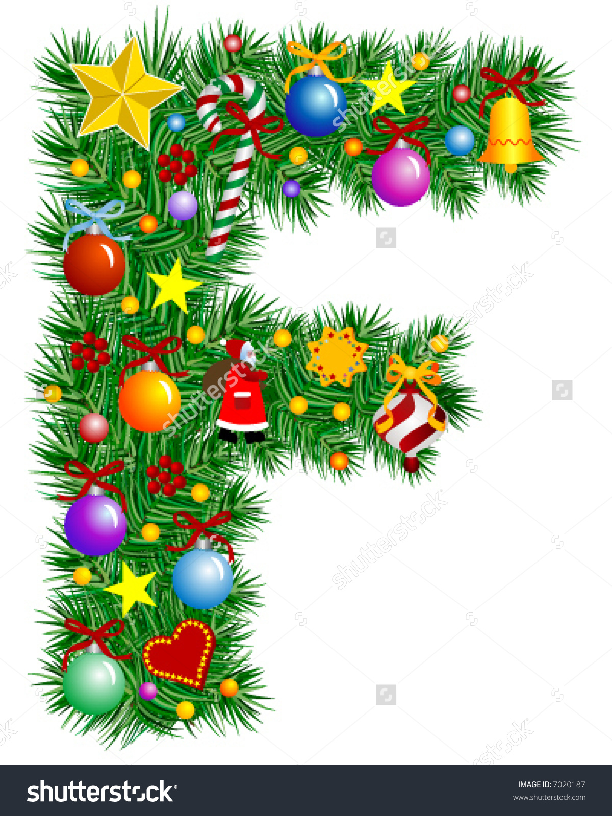 Christmas Tree Ornaments Clipart