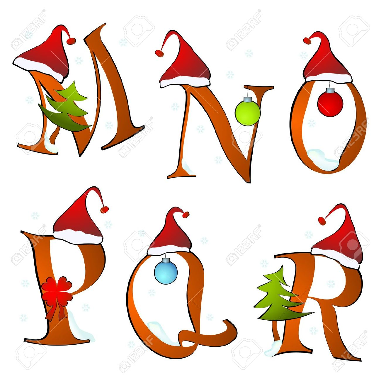 This is an image of Eloquent Christmas Letter Clipart