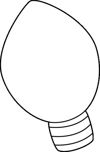Black & White Christmas Light Clip Art.