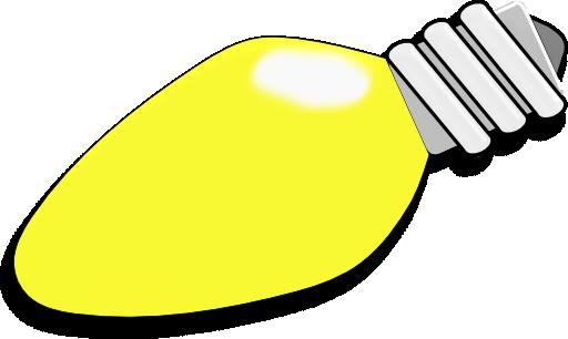 Christmas light bulb clip art.