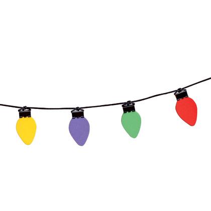 Christmas Light Strand Clipart.