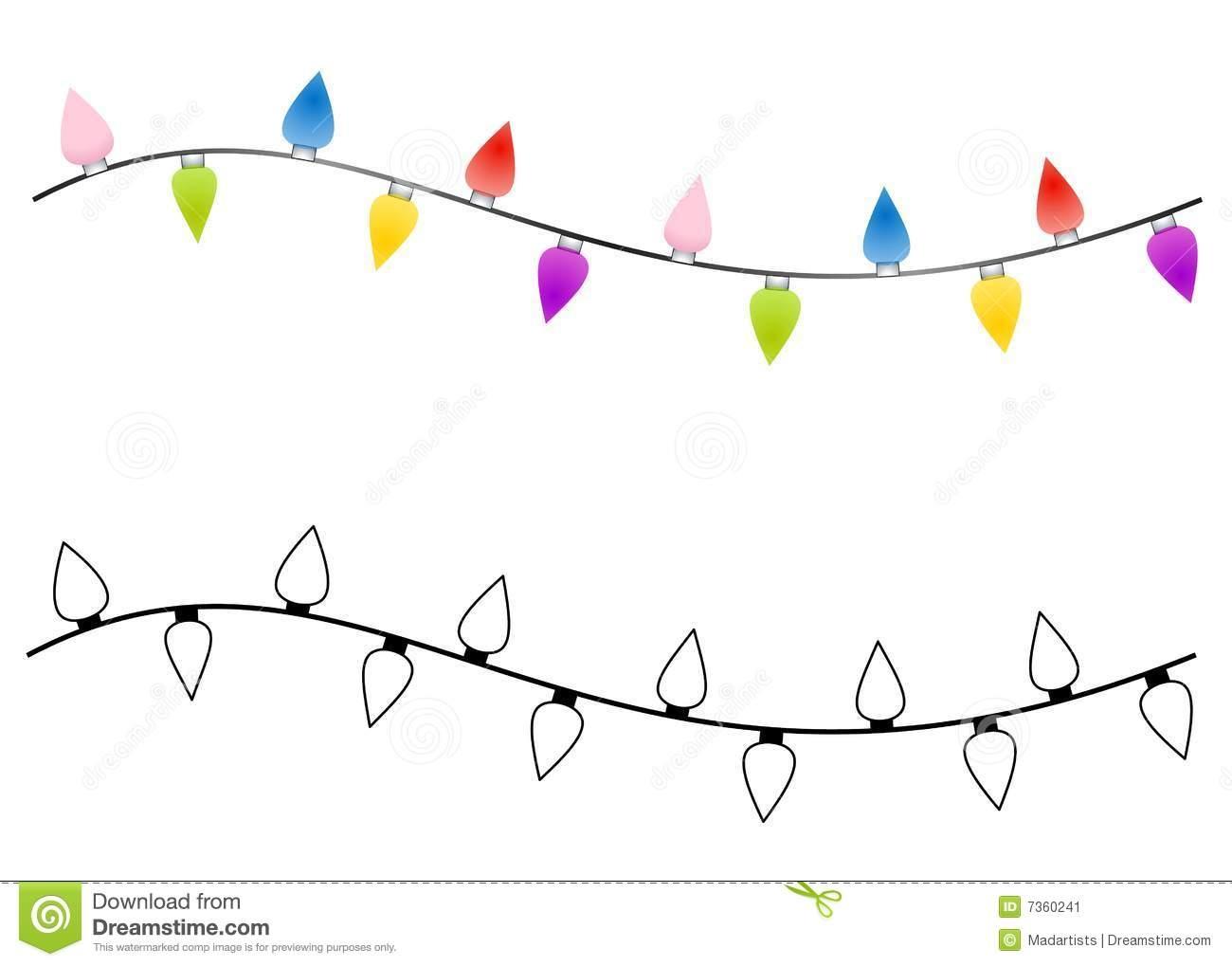 Christmas light strand clipart clipground