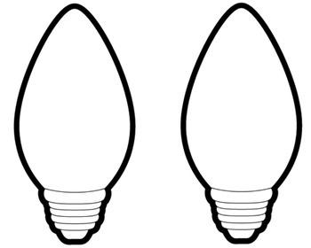 Christmas Tree Light Bulb Clipart Clipground