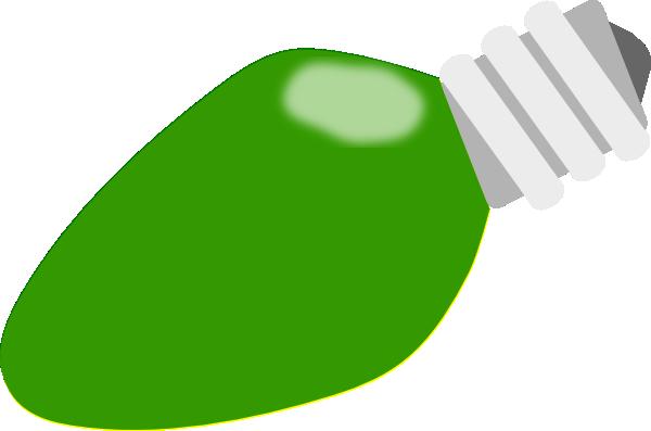 Christmas Light Bulb Green Clipart.