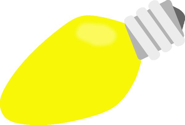 Yellow Christmas Lightbulb Clip Art at Clker.com.