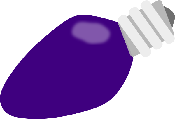 Purple Christmas Lightbulb Clip Art at Clker.com.