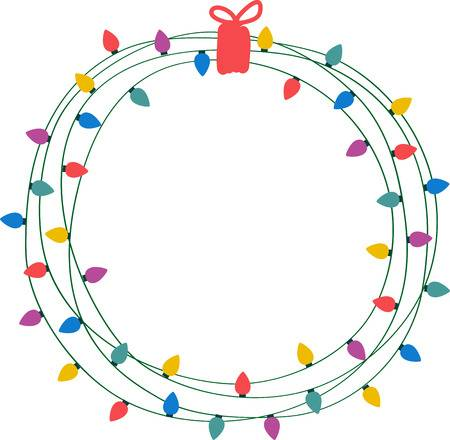 502 Christmas Light String Circle Stock Illustrations, Cliparts And.