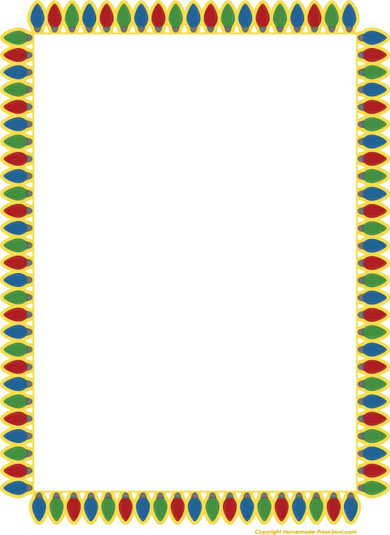 Christmas Lights Border Transparent Png.