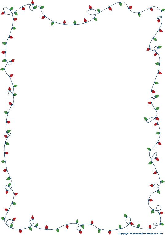 Christmas Lights Border PNG Photos.