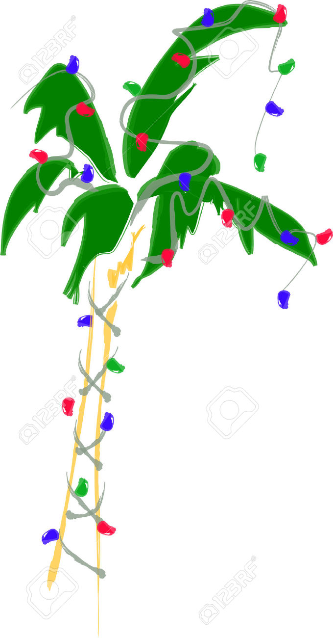 Christmas Lights Island Clipart.