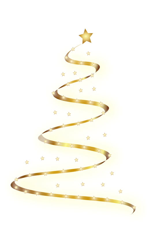 Christmas Lights Christmas Tree Clipart.