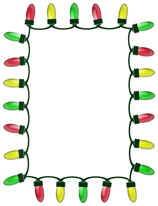 Christmas Lights Border Clipart.