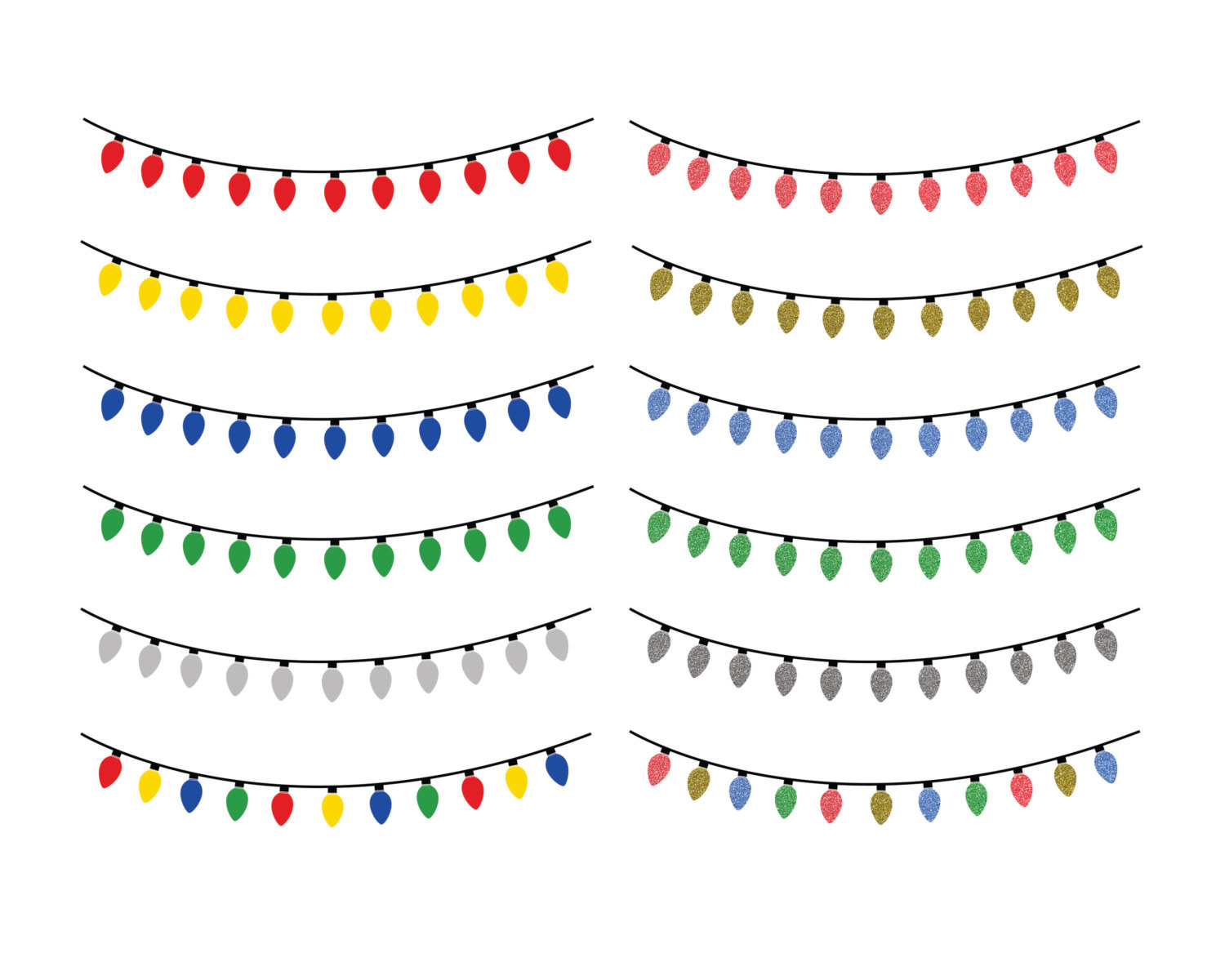 String of christmas lights clipart 2.