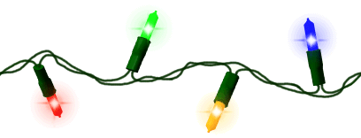 String Of Christmas Lights Clipart.